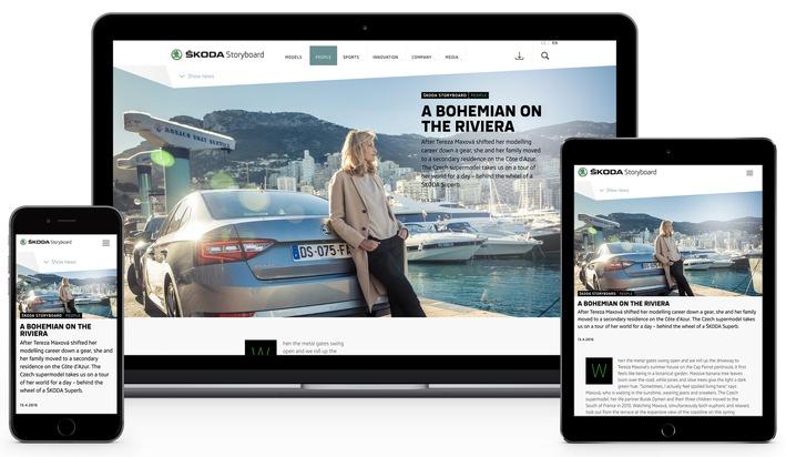 SKODA Storyboard: Kommunikation und Marketing starten neue Online-Plattform