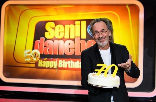 Hugo Egon Balder feiert seinen 50 plus 20. Geburtstag in SAT.1: