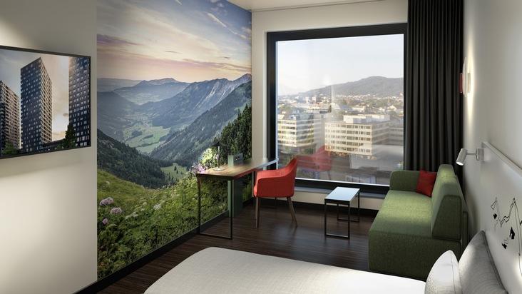 Vacances en ville: chambre avec vue dans le tout nouvel a-ja City-Resort Zurich. (photo: a-ja Resort und Hotel GmbH)