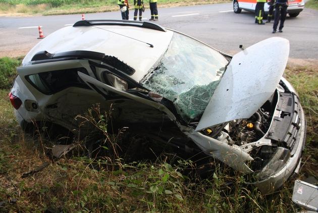 Aufnahme von der Unfallstelle