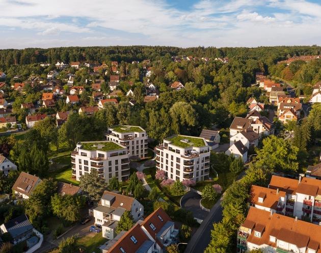 Vogelperspektive Hainbrunnenpark / BPD Niederlassung Nürnberg / Alexander Tschopoff
