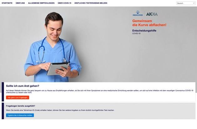AKKA stellt Entscheidungshilfe bei Verdacht einer COVID-19 Infektion zur Verfügung / Online-Fragebogen zur Einschätzung von Symptomen