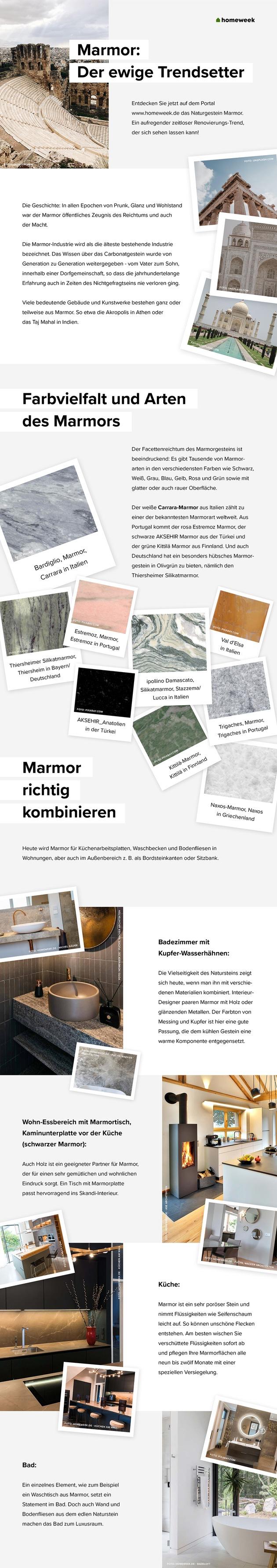 Marmor Der Ewige Trendsetter Presseportal