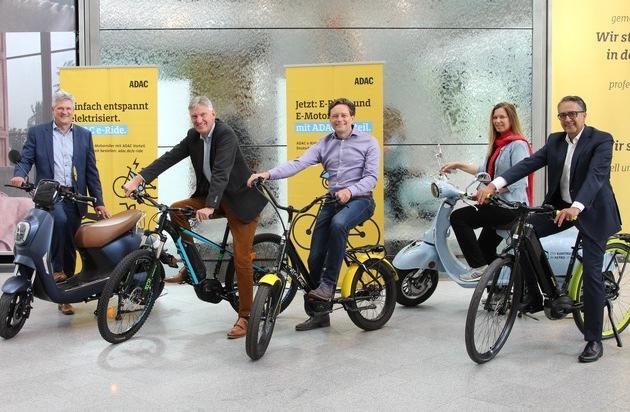 ADAC SE macht Einstieg in E-Mobilität erschwinglich / Günstige Abos mit flexiblen Laufzeiten / Zahlreiche E-Bikes und E-Motorroller im neuen Online-Shop / Rabatte und Inklusivleistungen für ADAC Mitglieder