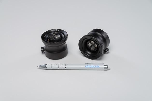 Kleines System mit großer Wirkung: Das DVS ist eine aktive Unterdruckpumpe, die kaum sichtbar in den Prothesenschaft integriert ist.