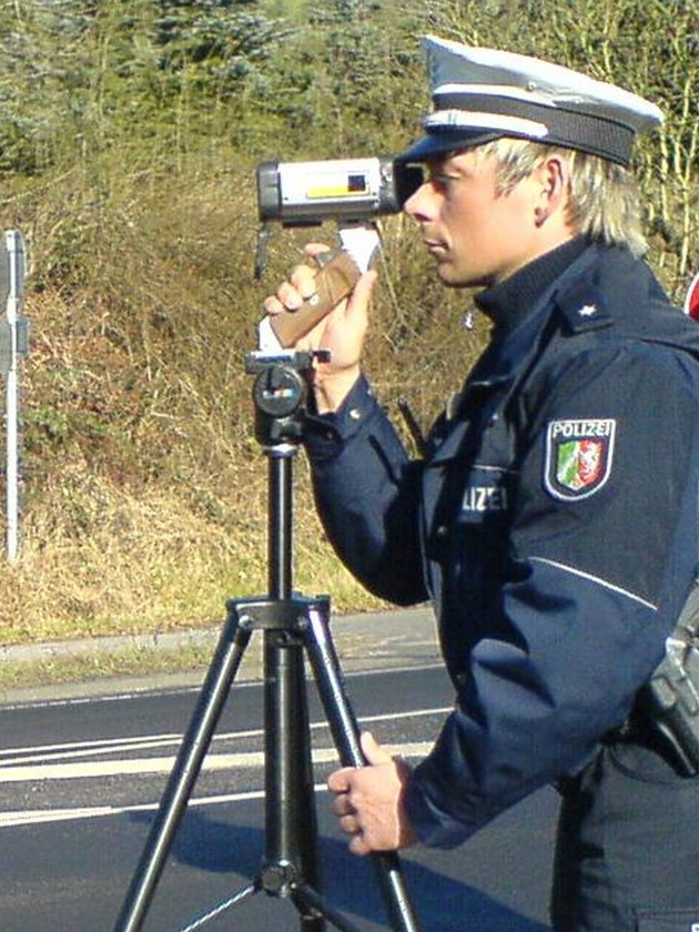 Symbolbild: Geschwindigkeitsmessungen mit dem Laser-Messverfahren