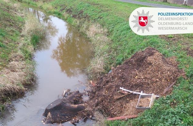 POL-DEL: Landkreis Oldenburg: Wardenburg / Charlottendorf-Ost: Unbekannter kippt Müll in Graben +++ Zeugen... - Presseportal.de