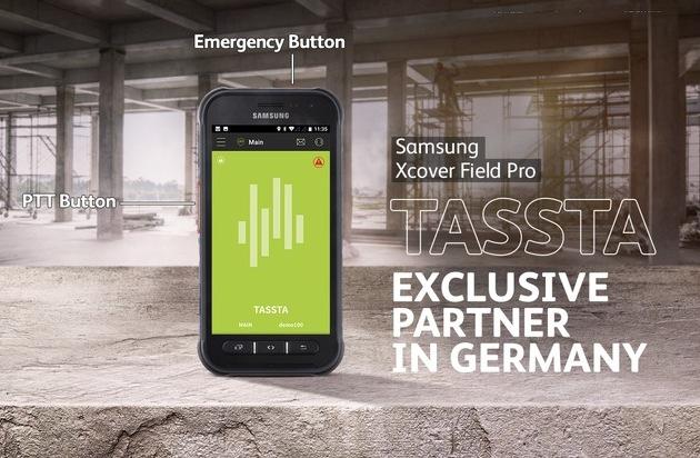 Hart im Nehmen, zuverlässig im Einsatz: Samsung launcht das Galaxy XCover FieldPro mit TASSTA / Robustes Outdoor-Smartphone ermöglicht missionskritische Kommunikation