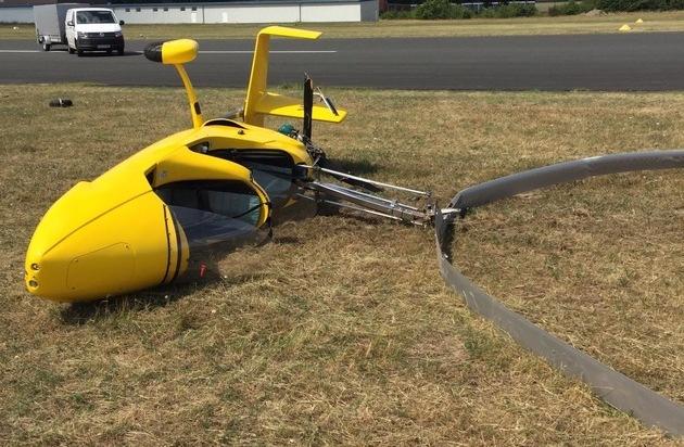 POL-ROW: Absturz eines Gyrocopters beim Start - kein ...