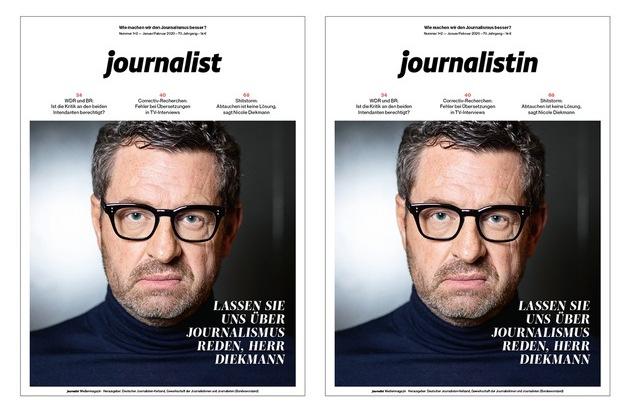 Neustart: Chefredakteur Matthias Daniel übernimmt das Medienmagazin journalist und startet mit einem Relaunch / Auf dem Cover stehen künftig journalistin und journalist