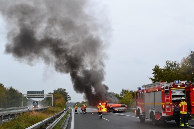 POL-WL: LKW Brand auf der A 7