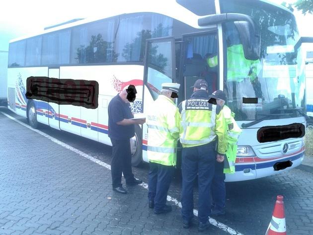 POL-PDNW: (BAB 6, Wattenheim) Hohe Beanstandungsquote bei Kraftomnibuskontrolle: