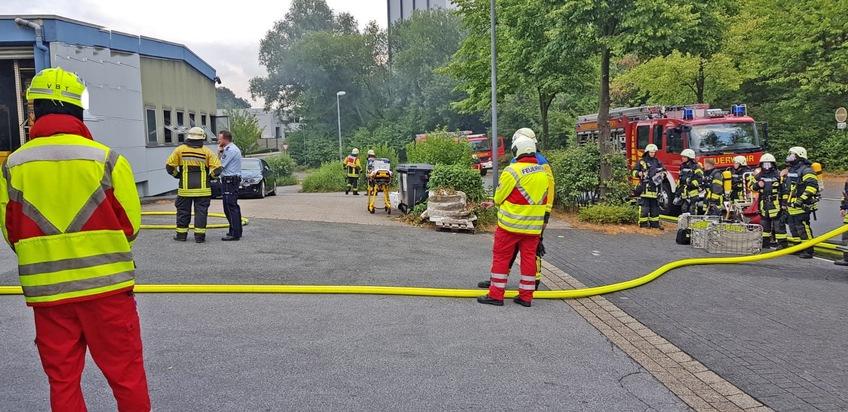 POL-ME: Hoher Sachschaden nach Firmenbrand - Velbert - 1807059