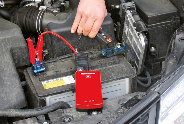 Mobil bleiben mit der Einhell Jump-Start Powerbank