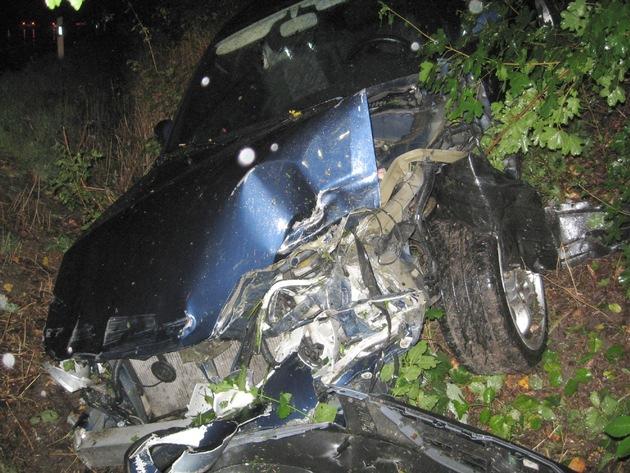 POL-HI: BAB 7, LK Hildesheim -- Bei Starkregen mit 2,32 Promille Unfall verursacht!