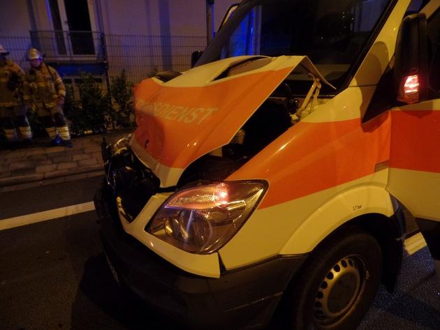 Verunfallter Rettungswagen