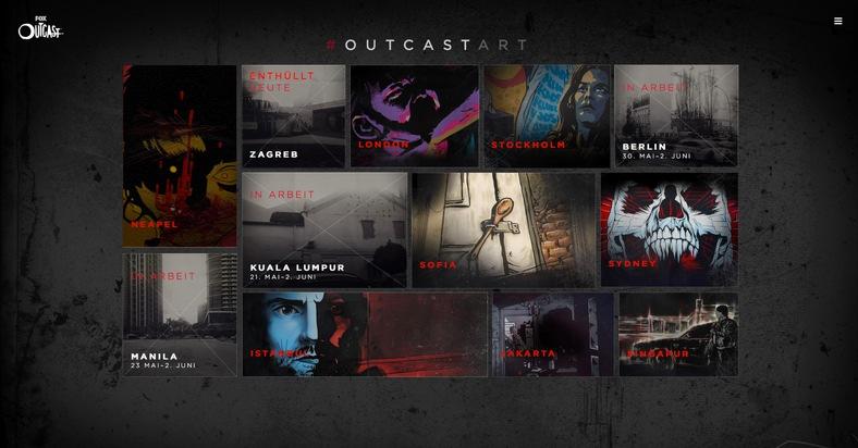 """""""OUTCAST ART"""": Fox startet globale Streetart-Aktion zum Launch der neuen Kirkman-Serie"""
