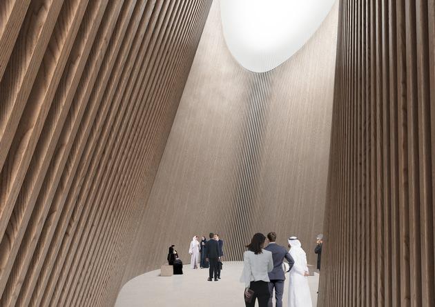 """Finland Pavilion Expo 2020 Dubai: Gorge. Weiterer Text über ots und www.presseportal.ch/de/nr/100017100 / Die Verwendung dieses Bildes ist für redaktionelle Zwecke honorarfrei. Veröffentlichung bitte unter Quellenangabe: """"obs/Expomobilia AG"""""""