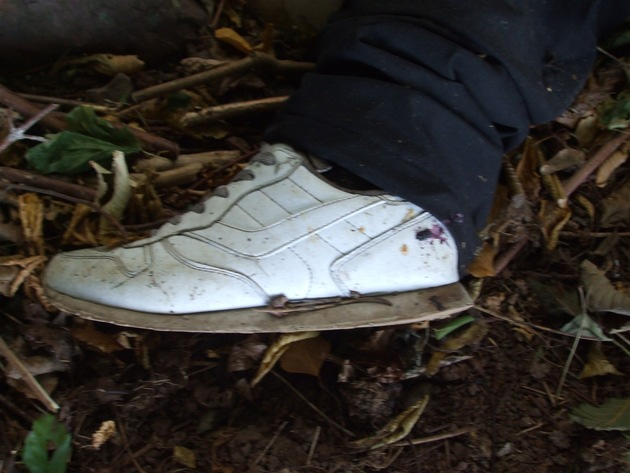Schuh der Person