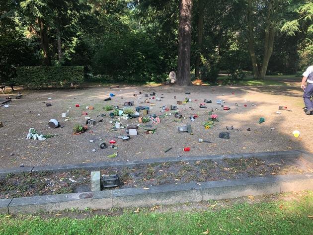 POL-KR: Vandalismus auf dem Hauptfriedhof- Zeugen gesucht