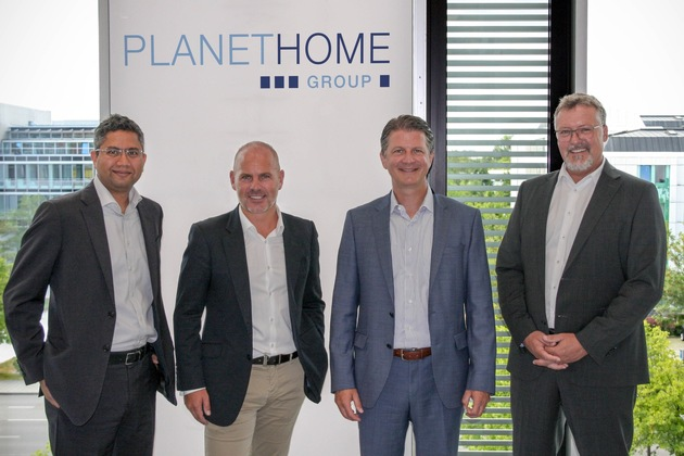 v.l.n.r.: Pranjal Kothari, Marcus Rex, Dr. Klaus von Rottkay und Ludwig Wiesbauer
