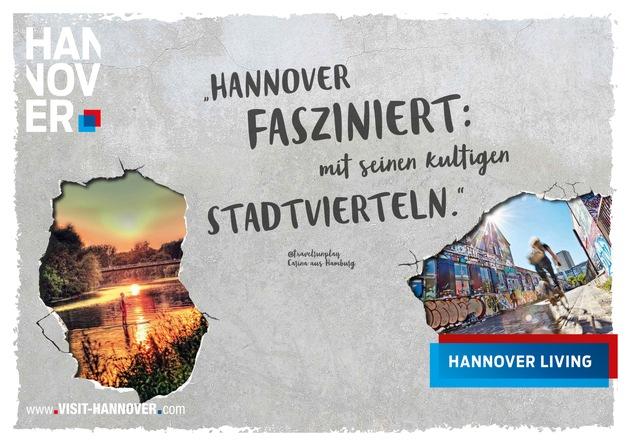"""Hannover Living: Komm und überzeug Dich selbst! www.visit-hannover.com / Weiterer Text über ots und www.presseportal.de/nr/42831 / Die Verwendung dieses Bildes ist für redaktionelle Zwecke honorarfrei. Veröffentlichung bitte unter Quellenangabe: """"obs/Hannover Marketing und Tourismus GmbH"""""""