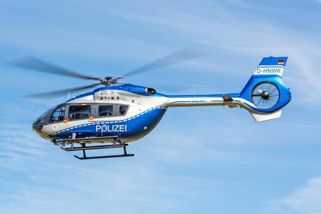 Polizeihubschrauber im Einsatz