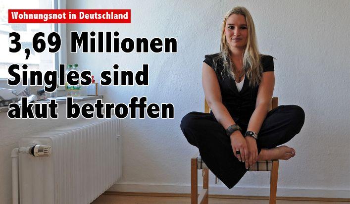 Wohnungsnot: 3,69 Millionen deutsche Singles sind akut betroffen