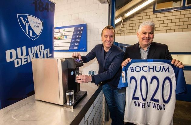 1:0 für die Umwelt - neues Trinkwassersystem im Vonovia-Ruhrstadion! VfL Bochum und water at work vereinbaren nachhaltige Partnerschaft unter dem Motto