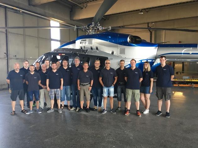 Besuch bei der Polizeifliegerstaffel NRW am Flughafen Düsseldorf