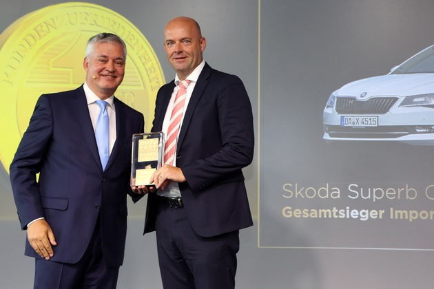 Topmodell SKODA SUPERB Combi ist 'Auto Test Sieger 2016'