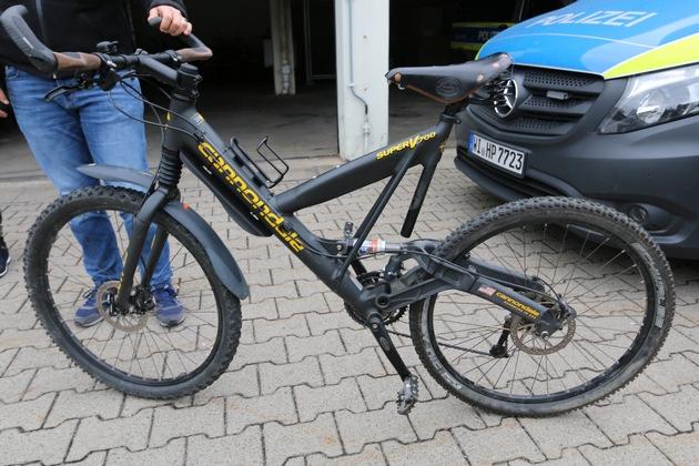 """Sichergestelltes Mountainbike des Herstellers """"Cannondale"""""""