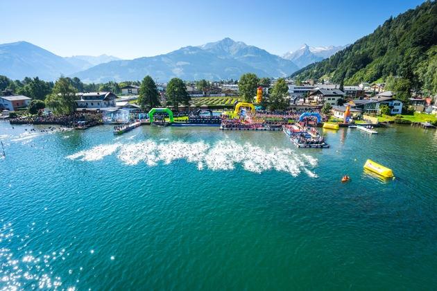 BILD zu TP/OTS - Schwimmstart IRONMAN 70.3 Zell am See-Kaprun Bildrecht: Zell am See-Kaprun Tourismus GmbH Aufnahmeort: Zell am See-Kaprun