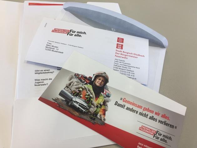 Das Mailing der Feuerwehr Bergisch Gladbach