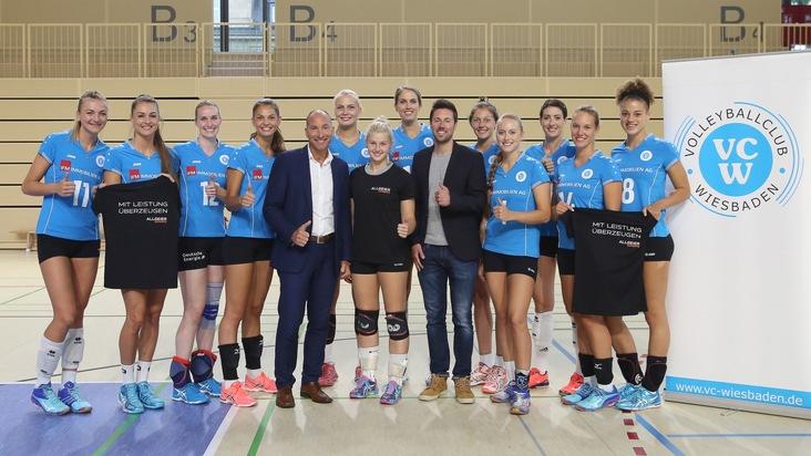 Partnerschaft mit Bundesliga-Frauen-Volleyball: Allgeier Experts Group neuer Sponsor des VC Wiesbaden