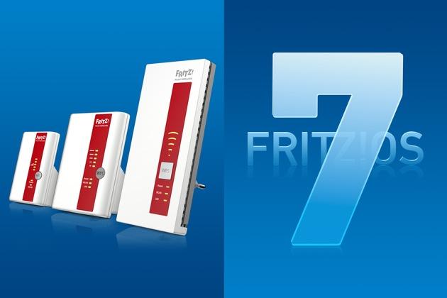"""AVM startet mit FRITZ!OS 7 für aktuelle FRITZ!WLAN Repeater und FRITZ!Powerline-Produkte mit WLAN. Das große Update sorgt für mehr Geschwindigkeit, Abdeckung und macht das WLAN Mesh von FRITZ! noch komfortabler. Weiterer Text über ots und www.presseportal.de/nr/14784 / Die Verwendung dieses Bildes ist für redaktionelle Zwecke honorarfrei. Veröffentlichung bitte unter Quellenangabe: """"obs/AVM GmbH"""""""
