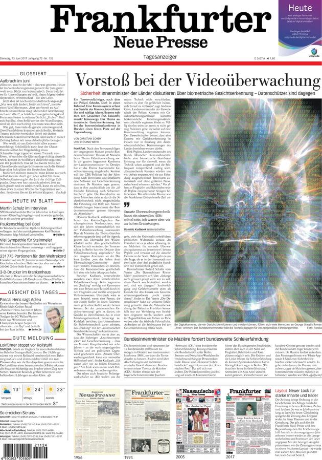 Frankfurter Neue Presse stellt sich neu auf
