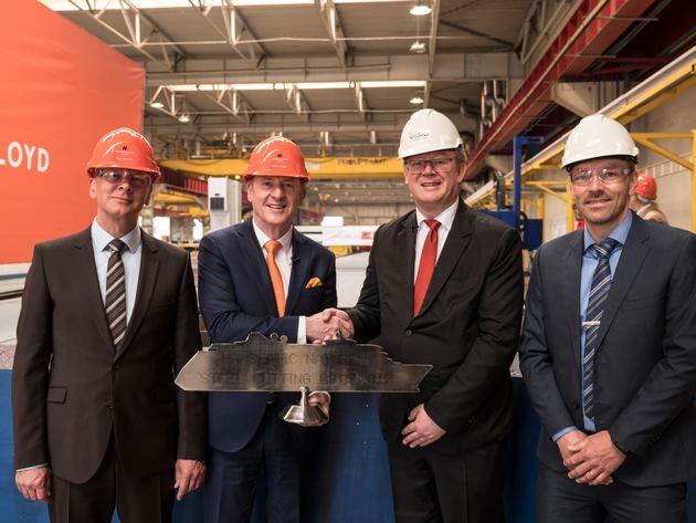 HANSEATIC nature: Baubeginn mit erstem Stahlschnitt in der VARD Werft