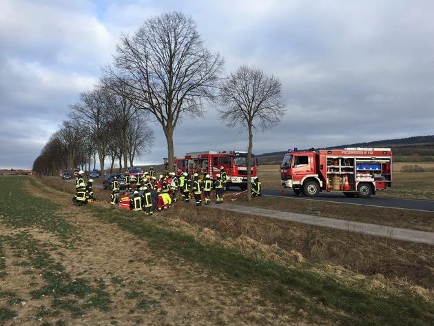 Unfall auf der B64
