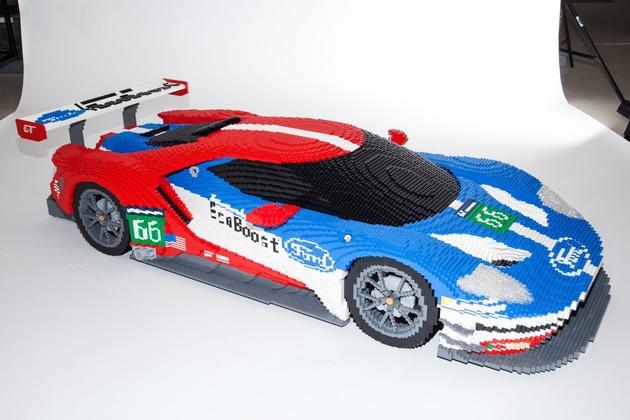 LEGO-Version des Ford GT-Rennwagen feiert Auftritt bei den 24 Stunden von Le Mans