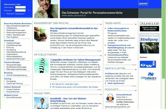 ▷ WEKA Verlag: Das neue Personal-Portal für Schweizer ...