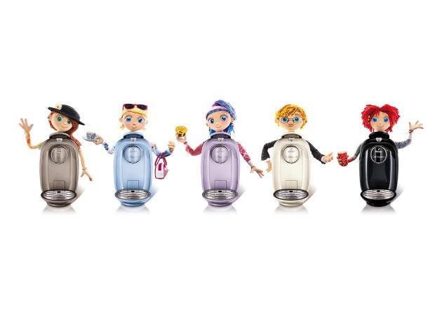 Tchibo: Kaffee hat Charakter - PICCO auch / Die neue Kapselmaschine Cafissimo PICCO passt in jedes Zuhause und hat je Farbe ihren eigenen Kopf (BILD)