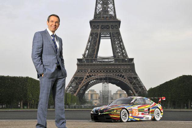 Weltpremiere des Art Cars von Jeff Koons im Centre Pompidou, Paris / Der Rennwagen geht beim 24-Stunden-Rennen in Le Mans an den Start (mit Bild)
