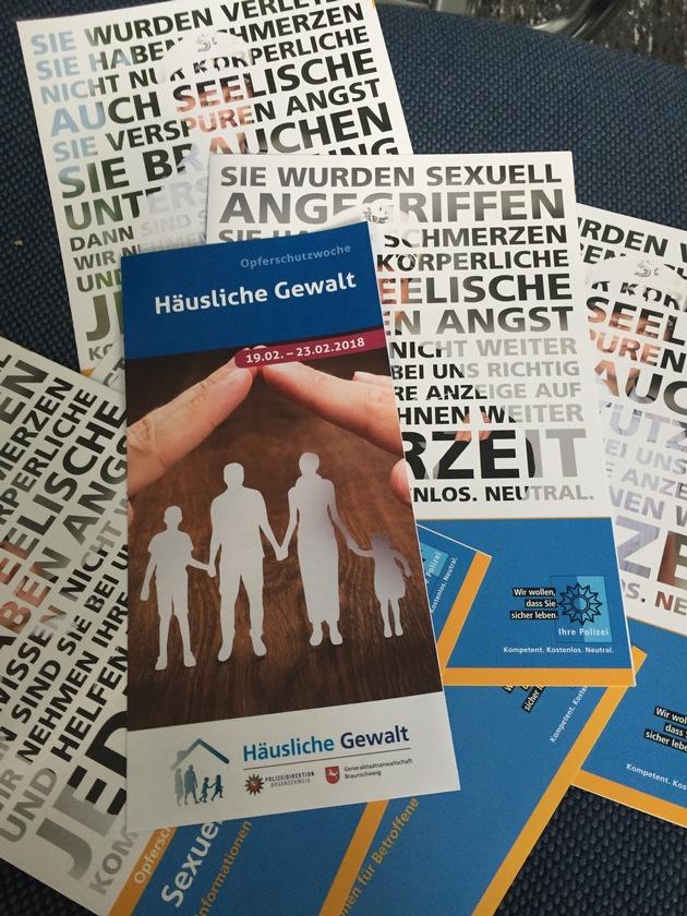 """Flyer zur Opferschutzwoche """"Häusliche Gewalt"""""""