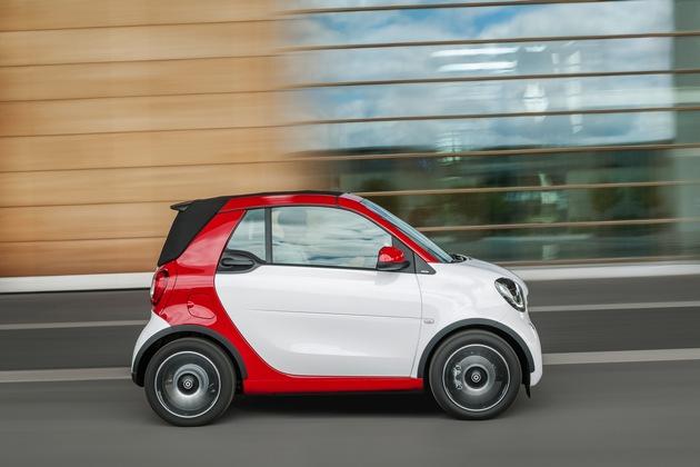 smart auf der IAA 2015 - Weltpremiere des smart fortwo cabrio