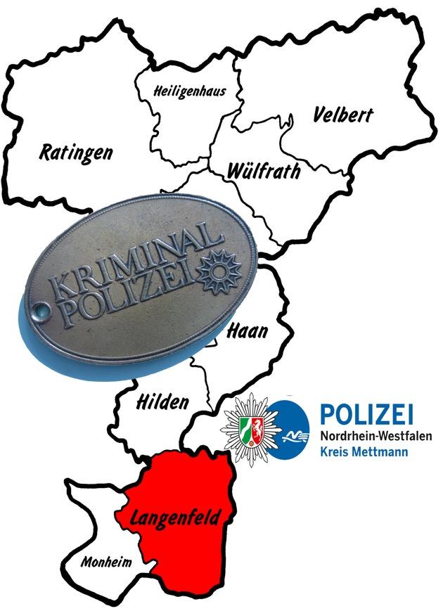 Symbolbild: Die Kriminalpolizei ermittelt und fahndet nach bewaffnetem Raubüberfall in Langenfeld
