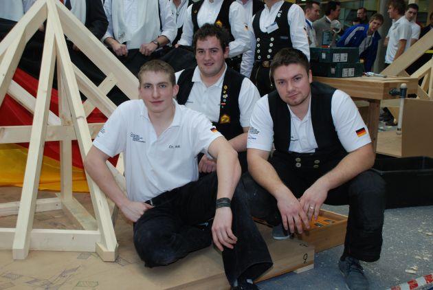 Deutschland ist Zimmerer-Europameister 2012 / Zimmerer-Nationalmannschaft holt Gold und Silber bei der EM 2012 in Stuttgart (mit Bild)