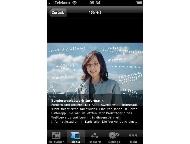 """Bildansicht in iPhone-App für Presseportal.de. Die Verwendung dieses Bildes ist für redaktionelle Zwecke honorarfrei. Abdruck bitte unter Quellenangabe: """"obs/news aktuell GmbH"""""""