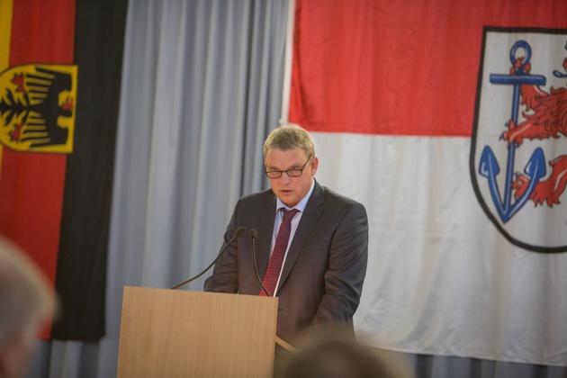 Regierungsdirektor Thomas Joemann bei seiner Antrittsrede (Quelle: PIZ Personal/ E. Langer)