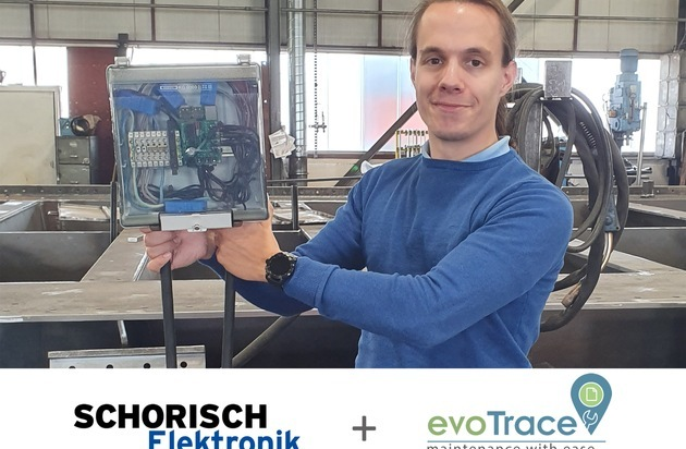 Wartung 4.0: Mit KI und evoTrace Produktions- und Wartungskosten einsparen - Eine digitale Lösung der Partner Schorisch Elektronik und evodion IT